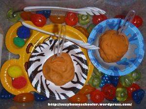 Fruit Sensory Bin from Suzy Homeschooler