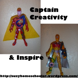 Captain Creativity and Inspire from Suzy Homeschooler (6)
