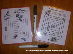 Dr Seuss Party from Suzy Homeschooler - Dry Erase Mazes