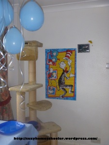 Dr Seuss Party from Suzy Homeschooler - hang puzzles as decor