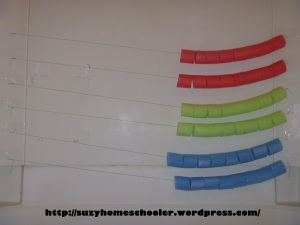 Giant Abacus and Pool Noodle Math in the Bath Tub from Suzy Homeschooler (2)