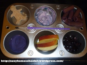 Harold and the Purple Crayon Muffin Tin Snack and 4 Other Activities from Suzy Homeschooler