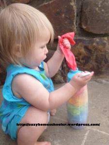 Rainbow Fabric Scrap Toy from Suzy Homeschooler (2)