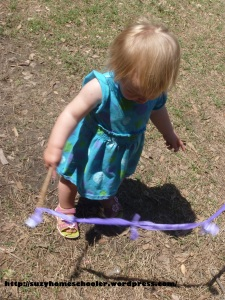 Homemade Rainbow Ribbon Dancers from Suzy Homeschooler (2)