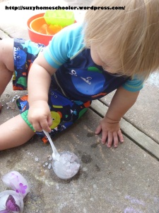Melting Ice With Salt from Suzy Homeschooler
