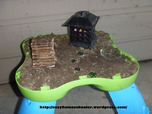 Pimp My Patio Day 7 from Suzy Homeschooler - Music Table to Fairy Garden (3)