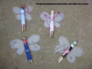 Child-Made Clothes Peg Fairies from Suzy Homeschooler (3)