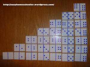 Homemade Dominoes from Suzy Homeschooler