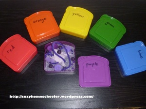 Mini Color Sensory Boxes from Suzy Homeschooler (1)
