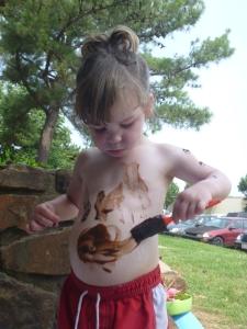 Sensory Chocolate Pudding Body Painting from Suzy Homeschooler (1)