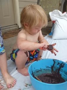 Sensory Chocolate Pudding Body Painting from Suzy Homeschooler (2)