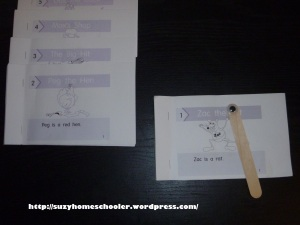Using Free Printable Early Readers, Suzy Homeschooler (1)