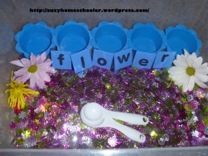 Flower Theme Sensory Bins from Suzy Homeschooler (1)