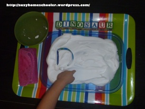 Simple Shaving Cream Writing Tray from Suzy Homeschooler (2)