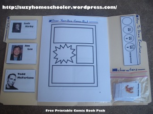 Free Printable Comic Book Pack from Suzy Homeschooler (1)