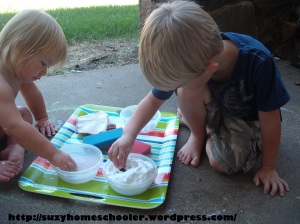 Dog Theme Week from Suzy Homeschooler, Dog Wash Small World Sensory Play (3)