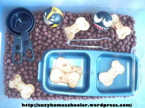Dog Theme Week from Suzy Homeschooler, Sensory Bin (1)