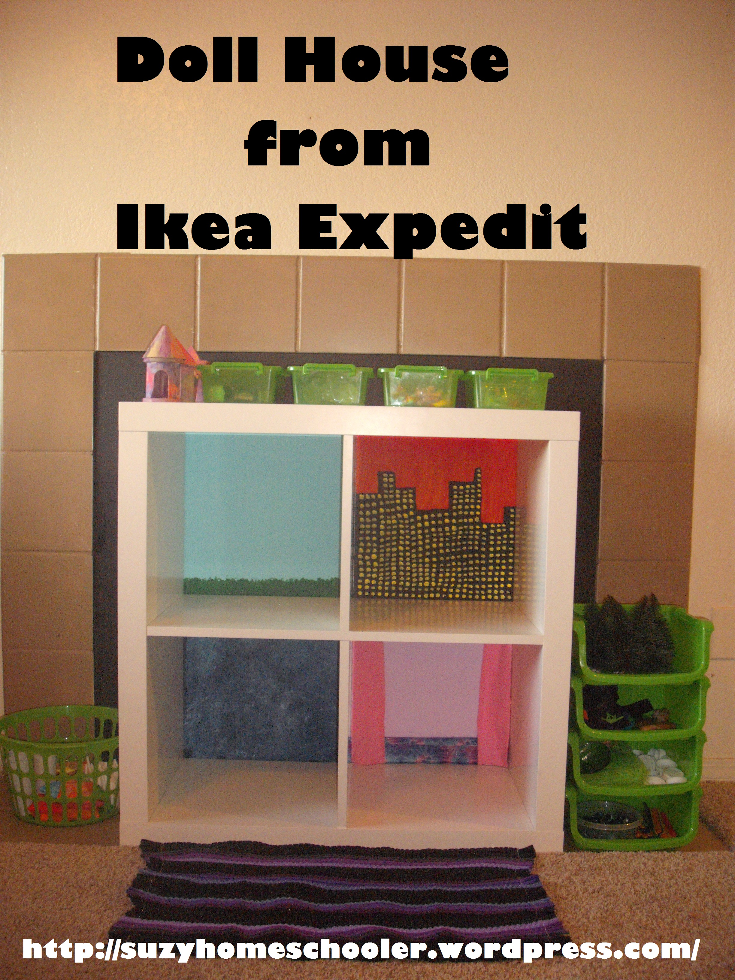 Doll House From Ikea Expedit Suzy Homeschooler