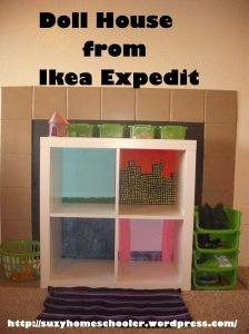 Doll House from Ikea Expedit, Suzy Homeschooler (1)