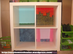Doll House from Ikea Expedit, Suzy Homeschooler (2)