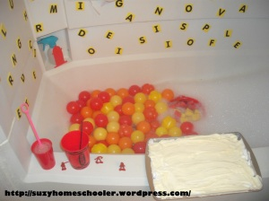 Fire Theme Bath from Suzy Homeschooler (1)