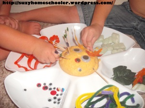 Halloween Themed Invitation to Play with Pumpkin Playdough, Suzy Homeschooler (2)