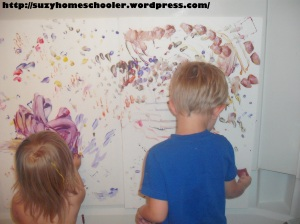 Painting Without Brushes from Suzy Homeschooler (16)