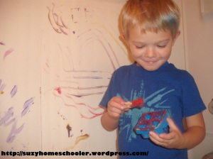 Painting Without Brushes from Suzy Homeschooler (9)