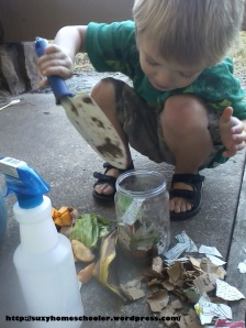 Harvest Theme Week (pt2) from Suzy Homeschooler - Compost Bin (5)